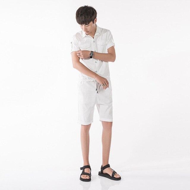 da4f306aa2b New 2017 Men Denim Harem Jumpsuit Street Fashion Casual A Piece Short  Sleeve Short Jeans Overalls Male Hip-Hop Trousers Jumpsuit