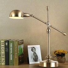 Ограниченная по времени распродажа, американский винтажный прикроватный столик для спальни, промышленный Ретро светильник с длинными ручками, светильники