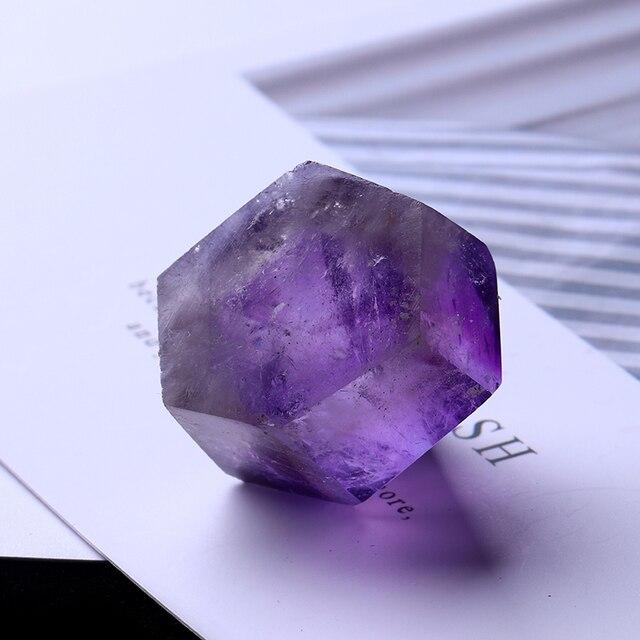 1PC Natural Amethyst Wand Quartz Crystal Repair Crystal Stone accessories Home Decor 4