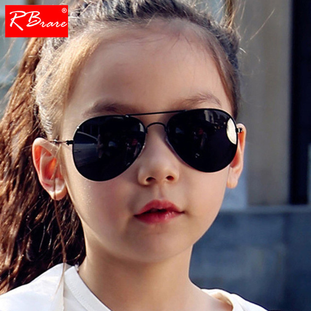 RBRARE Classic Sunglasses Girls Boys Colorful Mirror Children Glasses Metal Frame Kids Sun Glasses Oculos Infantil