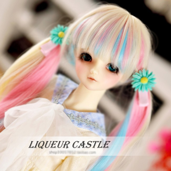 Sweetie Rainbow Fantasy Curling BJD Doll WIG for 1/3 (22cm) SD Doll HW10 uncle 1 3 1 4 1 6 doll accessories for bjd sd bjd eyelashes for doll 1 pair tx 03