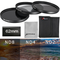 ND2 ND4 ND8 62-77mm Neutral Density Filter for Nikon D7100 D7000 D5200 D5100 LF287-LF290+