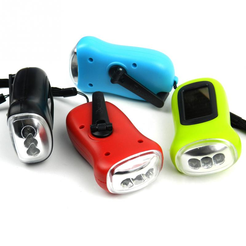 Portable LED Hand Crank Dynamo Flashlight Torch Outdoor Camping Mountaineering Night Linternas
