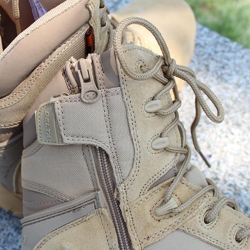 Heren delta hoge top militaire laarzen Hoogwaardige Commando lederen - Herenschoenen - Foto 4
