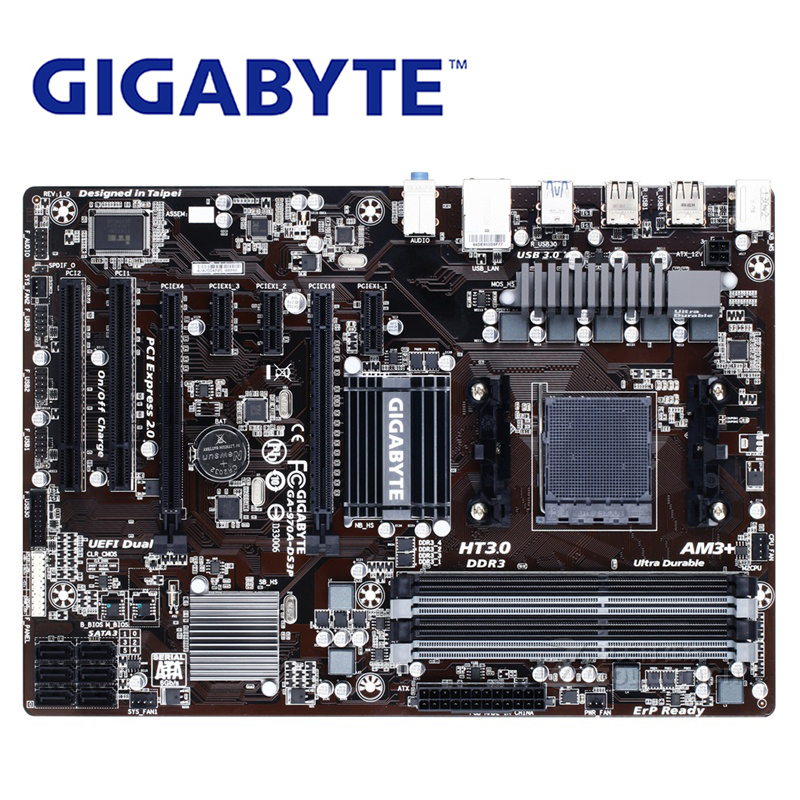 AM3 AM3+ For AMD DDR3 DIMM Gigabyt GA-970A-DS3P Original Motherboard USB3.0 32G Gigabyt 970 970A-DS3P Desktop Mainboard Boards