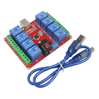 Smart Electronics 8 Channel DC 12V Relay Module Computer USB Control Switch Driver PC Intelligent Controller