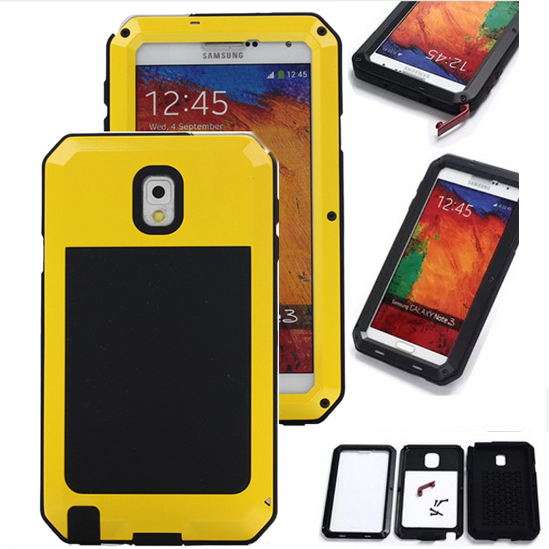 Shockproof Waterproof Power Aluminum Glass Protective Cover Phone Case For Samsung Galaxy S5 S6 S6 edge
