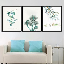 Modern Quotes Canvas HD Paintings Plant Mushrooms Wall Art Print Nordic Posters Pictures For Office Living Room Home Decoration