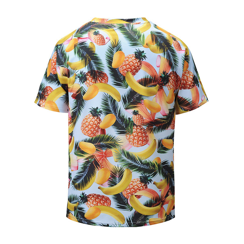 ec434406b44b Men T shirts Pineapple Bananas Print 2018 Fashion Large Size Tee Short  Sleeve V Neck Casual T Shirt Man Summer Clothing -in T-Shirts from Men s  Clothing on ...