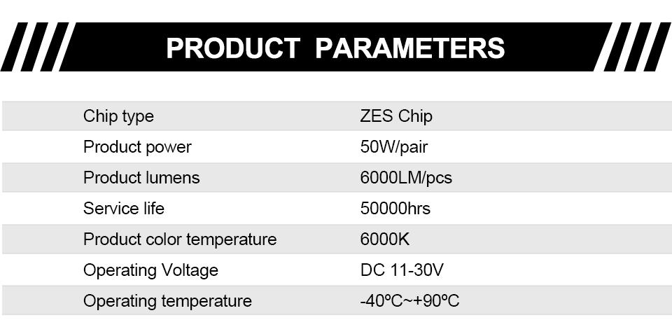 H4 Led CSP Chips H7 LED Headlights Auto-styling Led Car Bulb H1 H11 Fog Lamp Fanless (11)