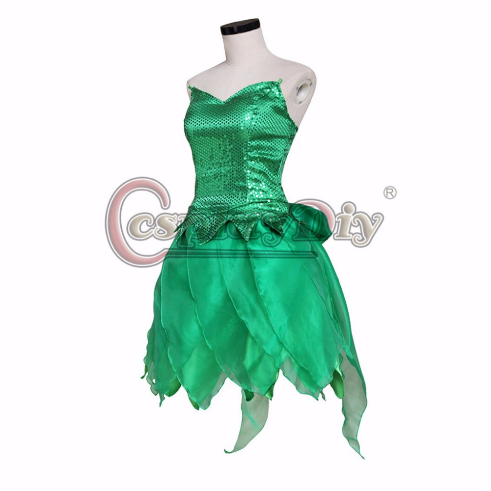 CosplayDiy Tinker Bell Princess Dress Tinkerbell Costume Cosplay ...