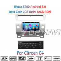 Topnavi 7 S200 Octa Core Android 8.0 Car DVD Multimedia Player Video for Citroen C4 Stereo Radio GPS Navigation Autoradio 2 Din