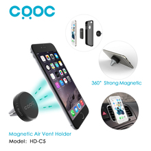CRDC Smart Universal 360Degree Car Holder Magnetic Air Vent Mount Smartphone Dock Mobile Phone Holder Cell Phone Stands AS AUKEY