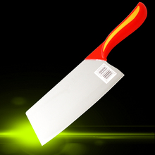 Kitchen knife, you can cut the bone/meat/slice/cut fish/vegetable/cut fruit/Wan knife, green handle stainless steel knives