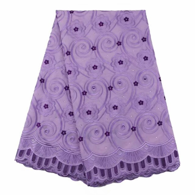Lilac korean lace fabric 5yards/pcs soft the highest quality of cotton lace fabric with embroidery patterns Dec-19-2017