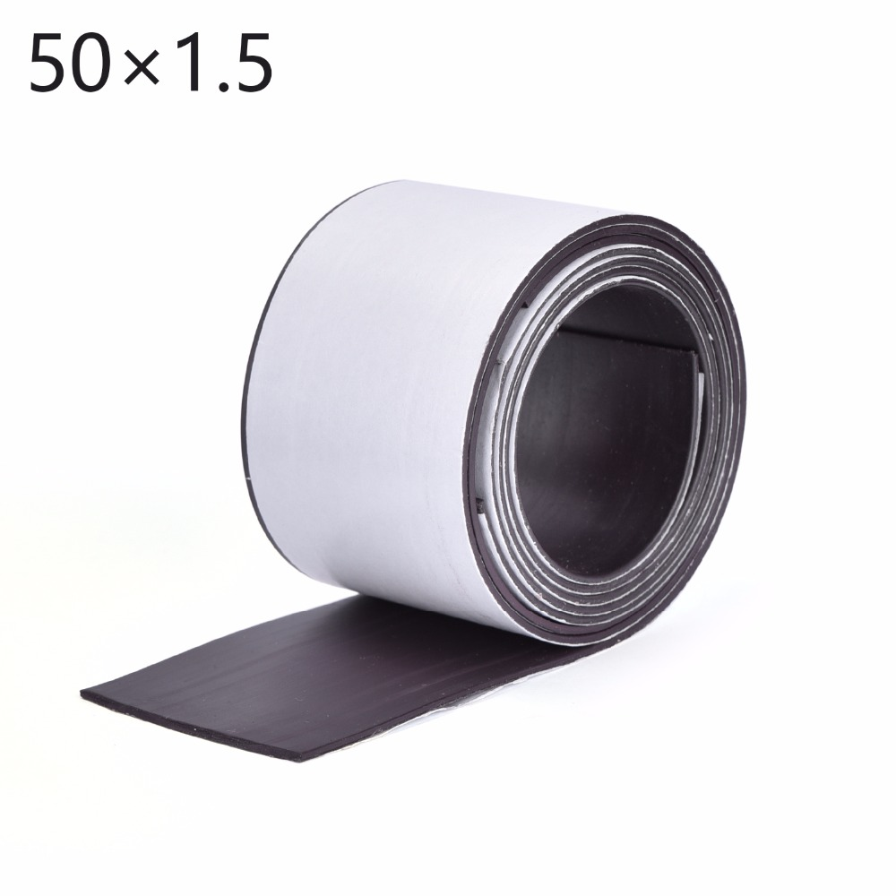 Whole Sales 1M Brand New Magnetic sheet, 50x1.5mm, one side with white PVC, flexible magnet Width: 50mm thickness 1.5mm brand new universal one 100% recycled copy paper 92 brightness 20lb 8 1 2 x 11 white 5000 shts ctn