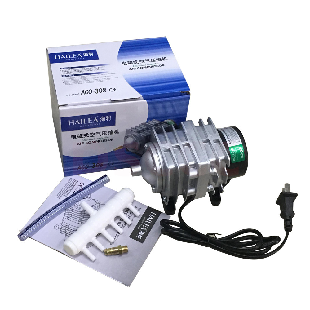 Hailea 25w 30w 45w 55w Air Pumps Stainless Steel Aquarium Commercial Hydro Air Pump Fish Tank Electrical Magnetic Oxygen Pumps Luxuriant In Design Pet Products Air Pumps & Accessories