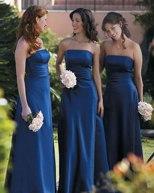 Cheap Blue Strapless Wedding Dresses