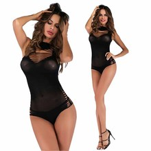 Black choker Hollow out Bustier bodysuit Bikini Shinny Bodysuit Party bodysuits Sexy Sheath Tank Sleeves Strappy Romper