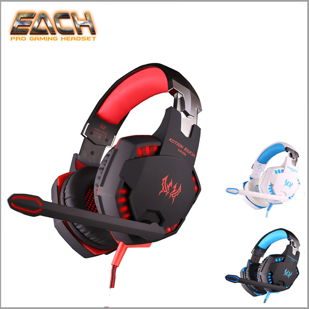 G2100 high-level Vibration Function Professional Gaming Headphone Games Headset with Mic Stereo Bass LED Light for PC Gamer kotion each g2100 vibration function professional gaming headphone games headset with mic stereo bass led light for pc gamer