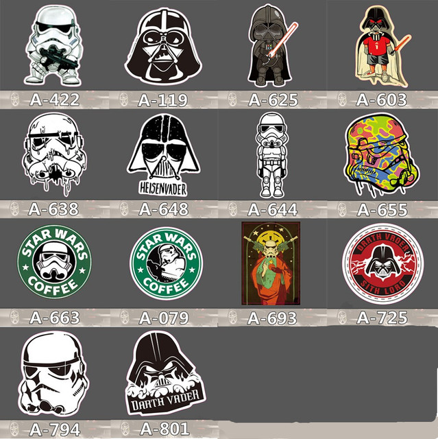 14 kinds Star Wars waterpoof sticker for Phone