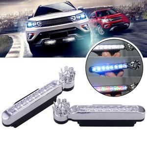 2Pcs Wind Energy No Need External Power Supply Car Daytime Running Lights 8 LED DRL Daylight Headlight Lamp