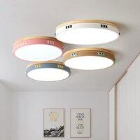 Luces Led de techo regulables de aleación Multicolor de estilo nórdico  lámpara de techo Led de madera Blutooth para sala de estar  accesorio de iluminación de techo Led para dormitorio