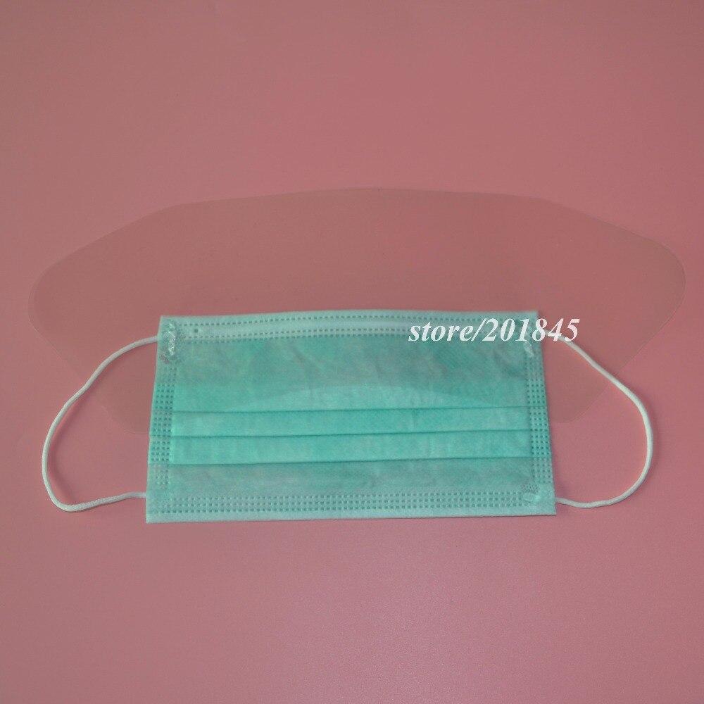 100 Pcs/Pack Chirurgische Gesicht Maske Ohrbügel Atemschutz Staub Mund Anti Nebel Mit Visier 3 Schicht Schwarz Maske unisex Für Gesundheit Pflege - 6