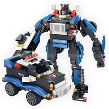 Building Blocks Toy Deformable Armor Robot Educational Model Assembly DIY Bricks Gift For Children