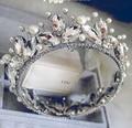 Full Pearl Jewelry Crown Crystal Bridal Jewelry Wedding Jewelry Crowns Tiara Wedding Accessories Acessorios Para Cabelo