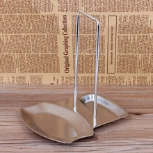 Stainless Steel Pan Pot Cover Lid Rack Stand Spoon Holder Rests Clips