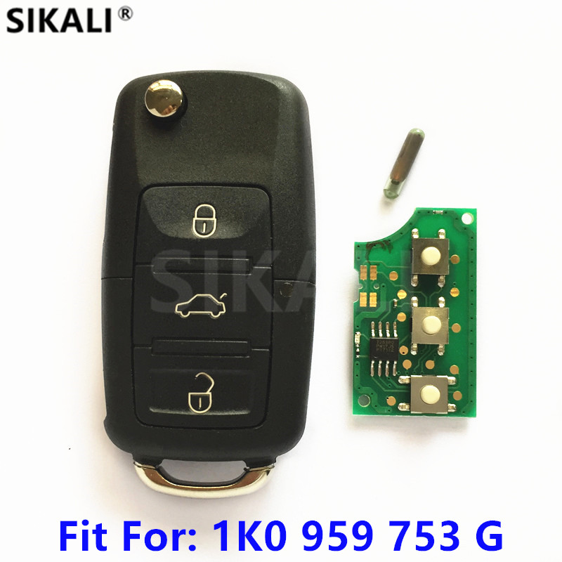 Car Remote Key for 1K0959753G 5FA009263-10 for CADDY/EOS/GOLF/JETTA/SIROCCO/TIGUAN/TOURAN 2003 2004 2005 2006 2007 2008 2009