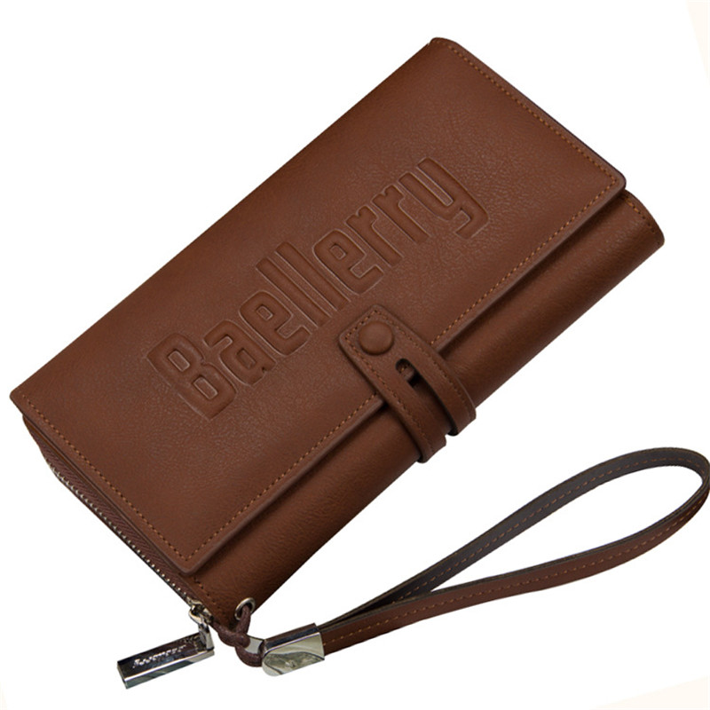 Baellerry 2017 Fashion Business Men Wallet PU Leather Purse Casual Long Business Male Clutch Wallets Men's handbags clutch bag baellerry business black purse soft light pu leather wallets large capity man s luxury brand wallet baellerry hot brand sale