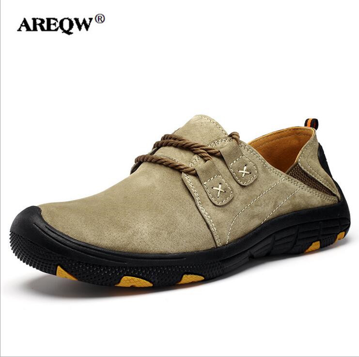 AREQW 2017 Fashion Men Casual Shoes Spring autumn Mens Trainers Breathable Flats Walking Shoes 2017 new autumn winter british retro men shoes zipper leather breathable sneaker fashion boots men casual shoes handmade