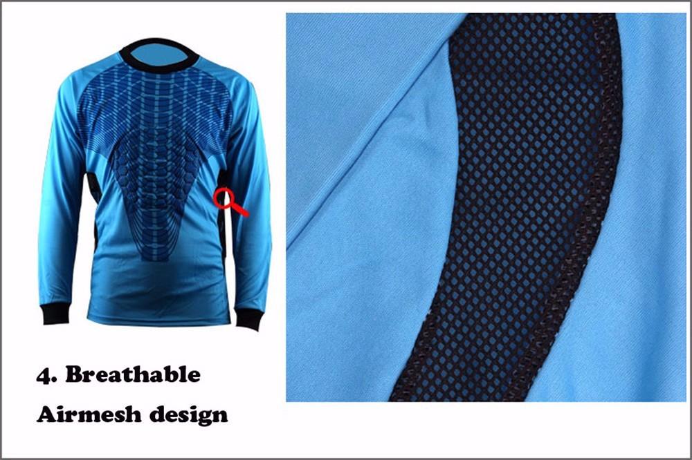 Mens Football Goalkeeper Jersey maillot de foot 2016 2017 Goalie Sponge Protector Suit Camisetas De Futbol Goal Keeper Uniforms 8
