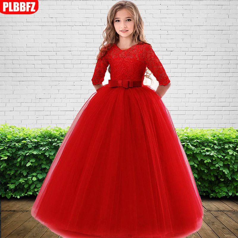 Ball gown for kids high-end elegance children party   dress     girl   wedding   dress   long sleeve   girl   first communion princess   dress