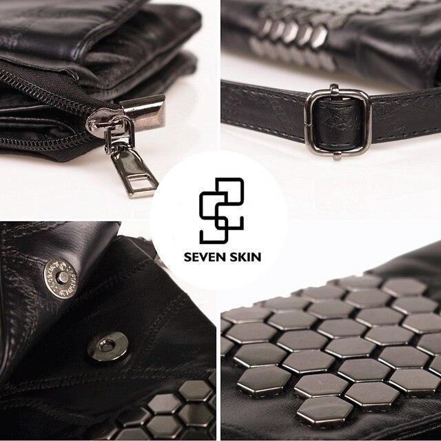 SEVEN SKIN Brand Women Messenger Bags Genuine Leather Female Handbag Fashion Designer High Quality Clutch Shoulder Bag for Women
