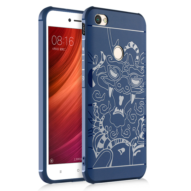 3483a45eb9348 Luxury Xiaomi Redmi Note 5A Case 3D Carved Airbag Shockproof Soft Silicone  Back Cover Case For Xiaomi Redmi Note 5A Prime Pro
