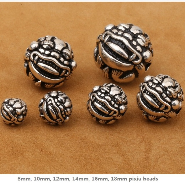 18246d45f987b US $3.57 22% OFF|Vintage 925 silver Wealth Pixiu Beads sterling silver  Piyao beads jewelry diy beads good luck beads-in Beads from Jewelry & ...