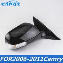 С подогревом складной и регулируемый с светодиодный поворотник сбоку Зеркало заднего вида зеркало заднего вида для CAMRY 2006 2007 2008 2009 2010 2011