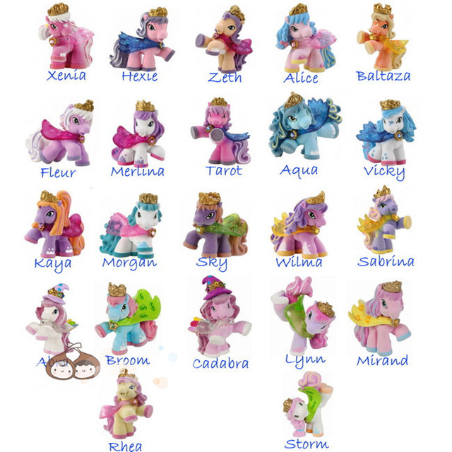 AILAIKI 30pcs/lot Simba Filly Little Horse 3CM Mini Horses Kids Animal Dolls Butterfly Witchy Stars Unicorn ect. Mixed Styles