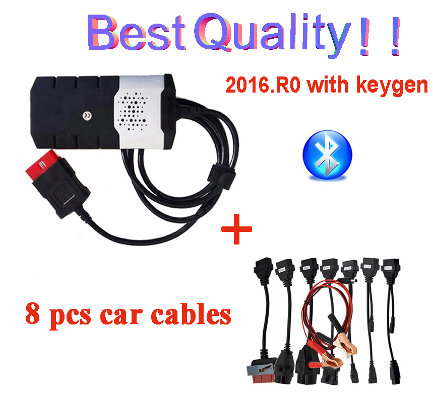 2019 Newest 2016.R0 With Keygen For Delphis Vd Ds150e Cdp Bluetooth Car Truck Tcs Cdp Pro Plus For Autocoms Obd2 Scanner