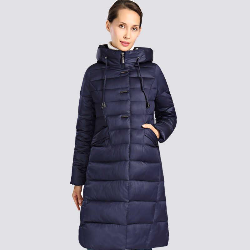 2019 новая зимняя куртка для женщин; Большие размеры 6XL длинный толстый Женское зимнее пальто с капюшоном Высокое качество Теплый пуховик куртка-парка Femme