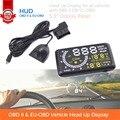 """5.5 """"Auto Carro Head-Up Display HUD Projetor OBD II Excesso de Velocidade Do Veículo Aviso MPH com Anti-slip Pad Combustível velocímetros Plug & Play"""