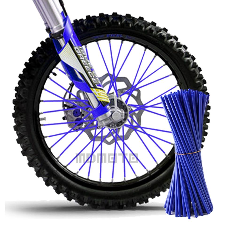 Motocicleta Motocross Dirt Bike rueda Rim Spoke Skins cubiertas Wrap ...