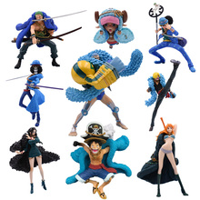 9 Styles Anime One Piece 20th Anniversary Luffy Sanji Nami Zoro Chopper PVC Action Figure Collectible Model Christmas Gift Toy цена 2017