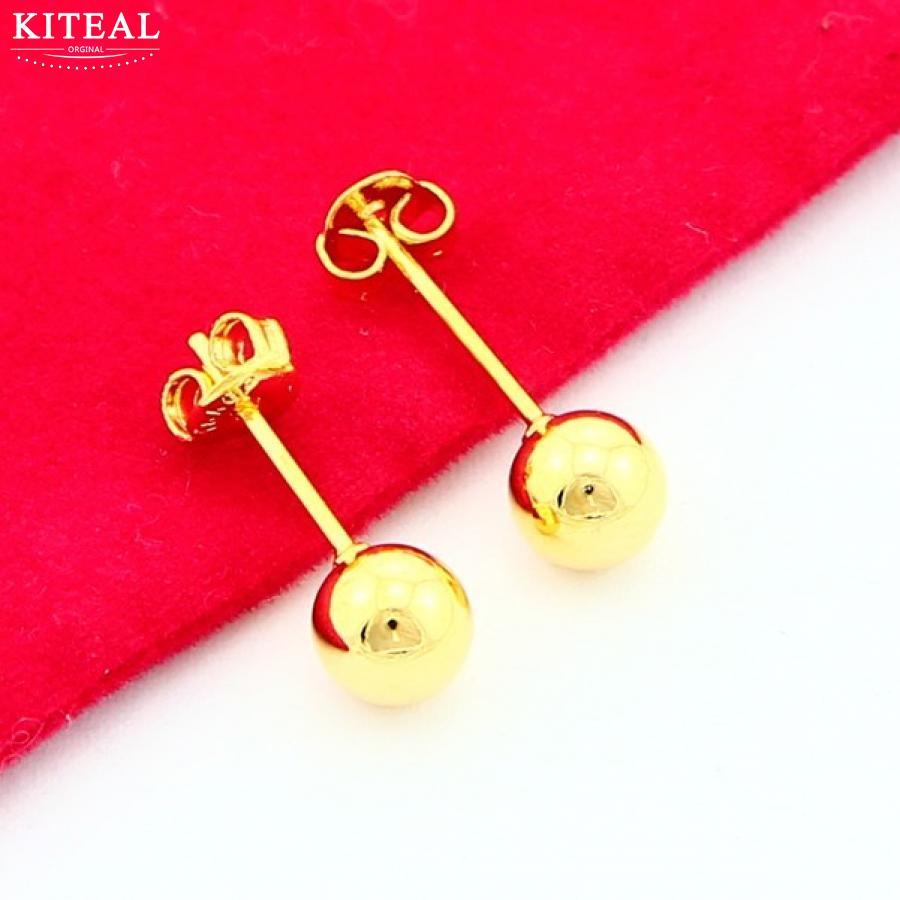 Ohrstecker Ohrringe Neue Ankunft Mode 24 Karat Gp Gold Farbe Ohrring Gelbgold Goldene Schmuck Niedliche Ohrringe Freies Verschiffen Yhde001