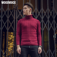 2018 New Autumn&Winter Thermal Slim Turtleneck Sweater Male Trend Thick Solid Pullover Men Knitted Blending Basic Shirt Costumes