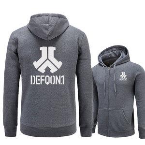 Image 3 - 2017 New Defqon 1 Rock Band Hip Hop Men Hoodies Sweatshirts Winter Autumn Zipper Fleece Casual Jackets Hoodie male clothing