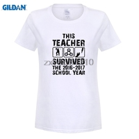 GILDAN This Teacher Survived Spinner Women Casual T Shirts Digital Printing 100 180g Combed Cotton Fashion